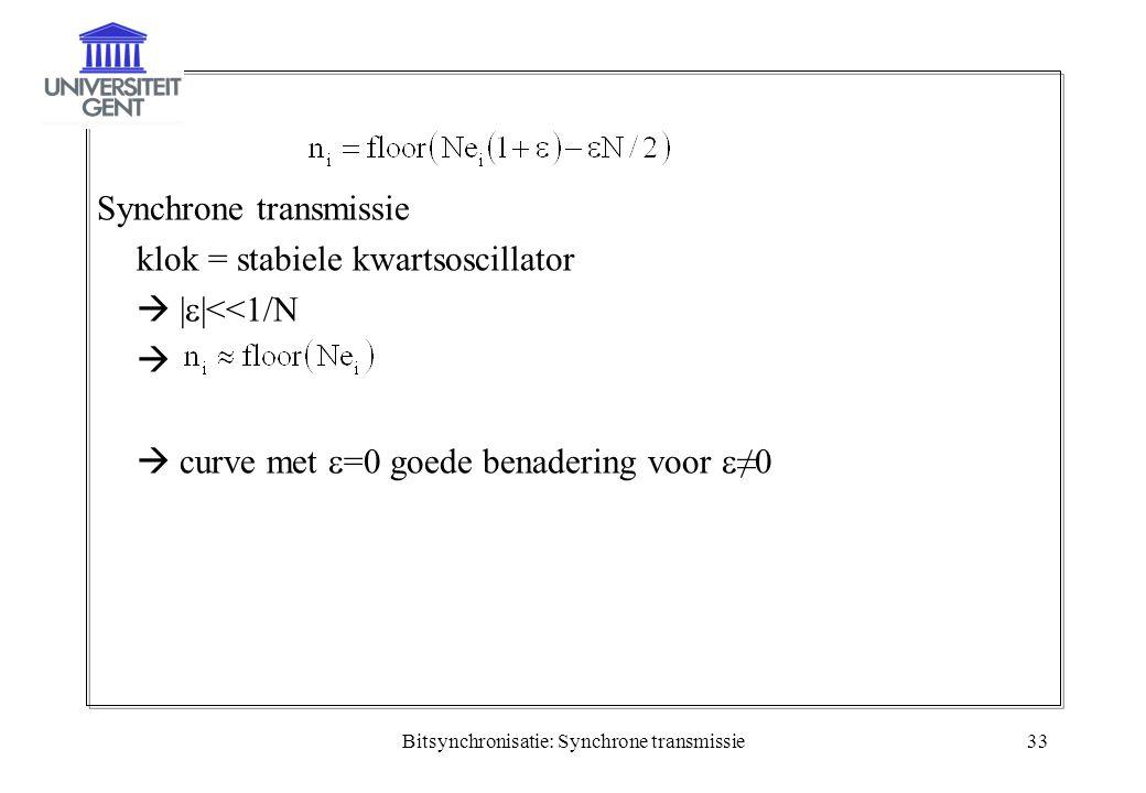Bitsynchronisatie: Synchrone transmissie