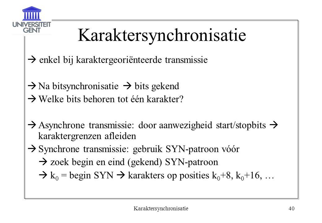 Karaktersynchronisatie
