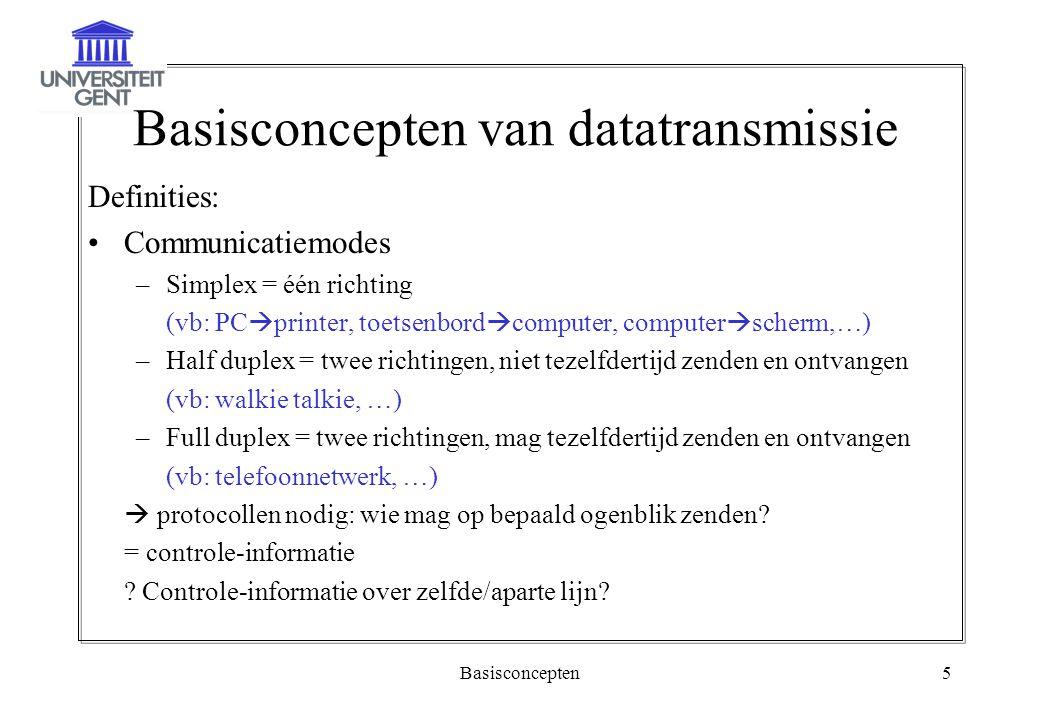 Basisconcepten van datatransmissie