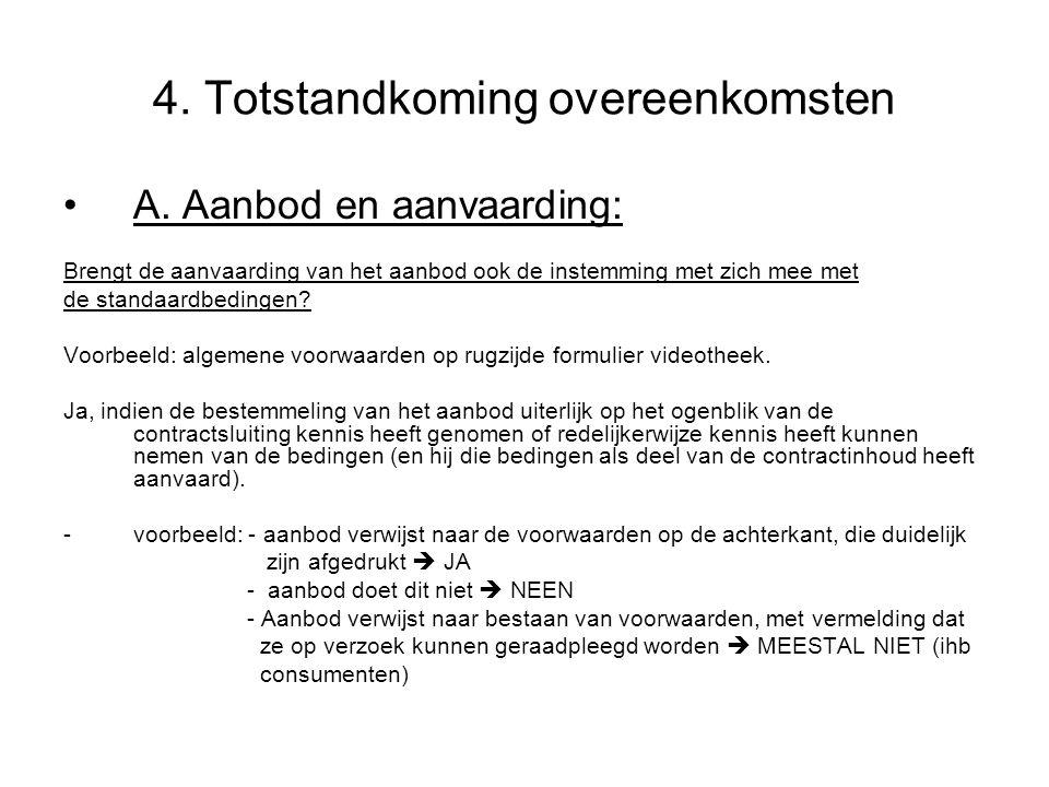 4. Totstandkoming overeenkomsten