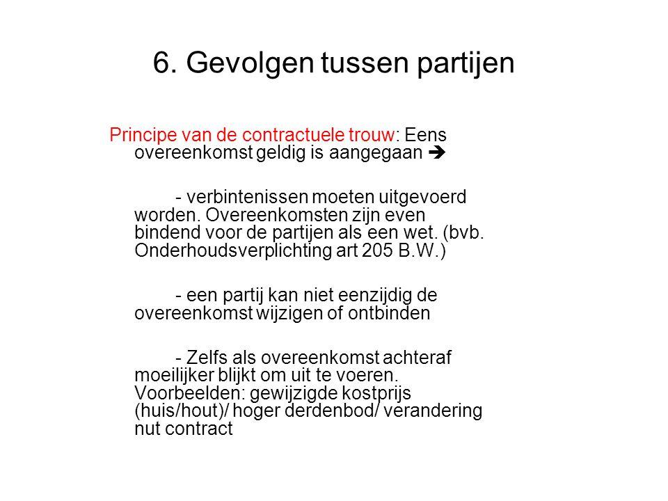 6. Gevolgen tussen partijen
