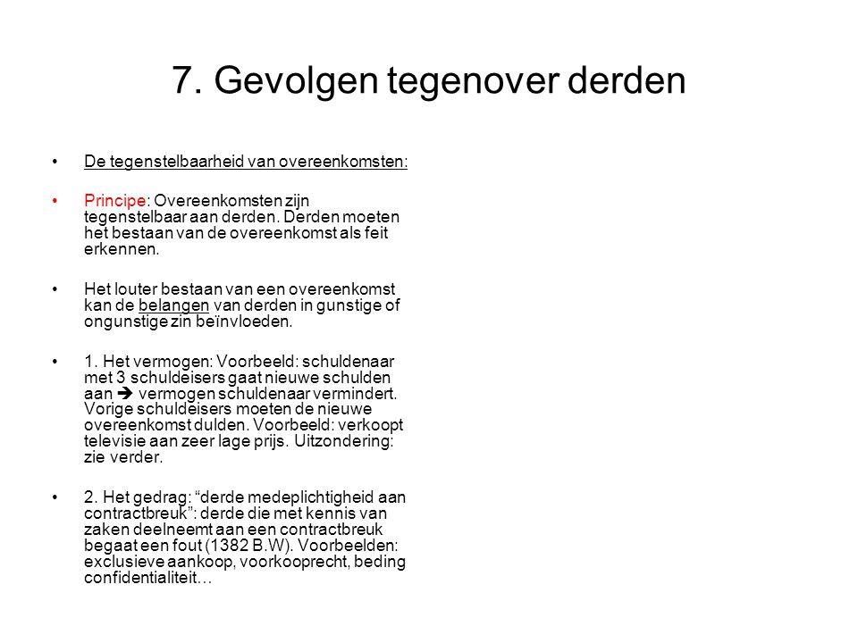 7. Gevolgen tegenover derden