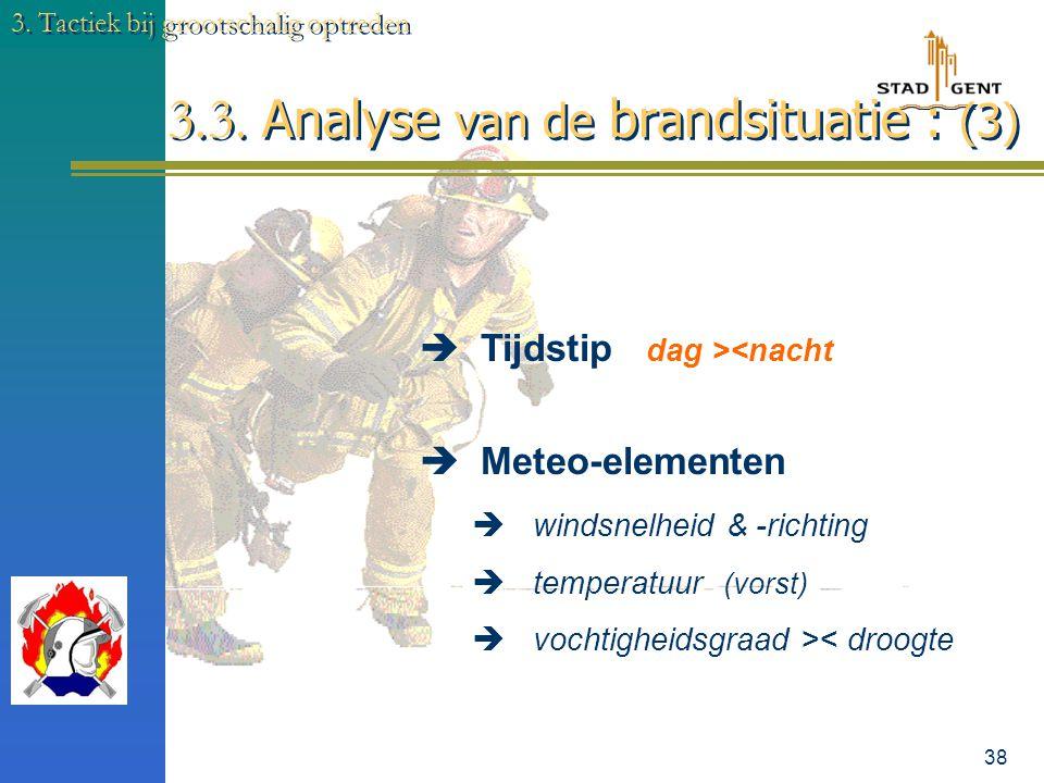 3.3. Analyse van de brandsituatie : (3)
