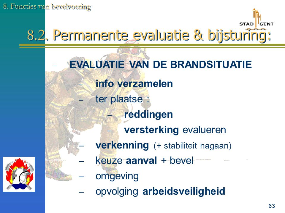 8.2. Permanente evaluatie & bijsturing:
