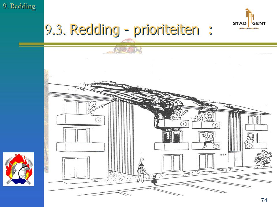 9.3. Redding - prioriteiten :