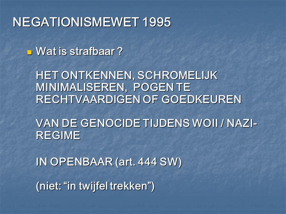 NEGATIONISMEWET 1995
