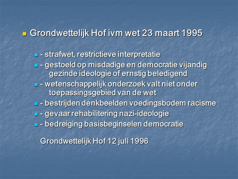 Grondwettelijk Hof ivm wet 23 maart 1995