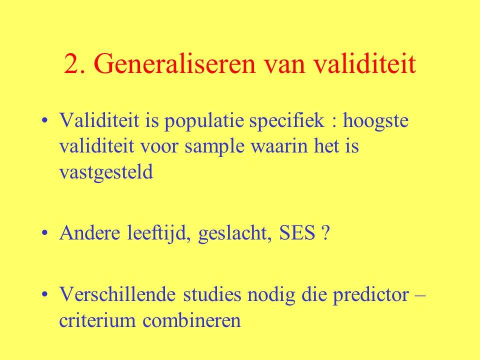 2. Generaliseren van validiteit