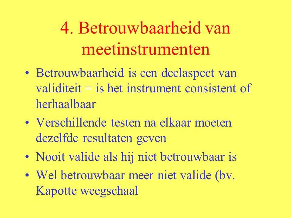 4. Betrouwbaarheid van meetinstrumenten