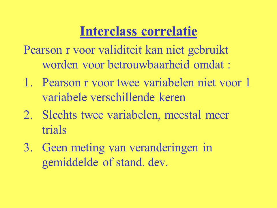 Interclass correlatie