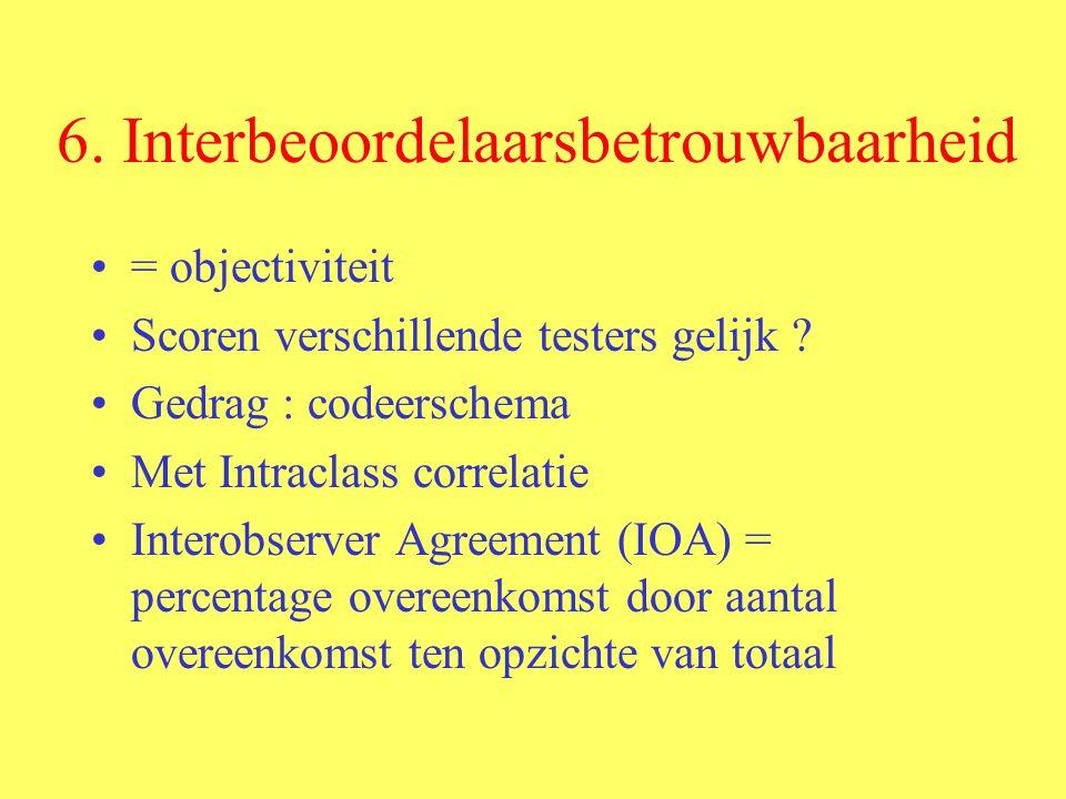 6. Interbeoordelaarsbetrouwbaarheid
