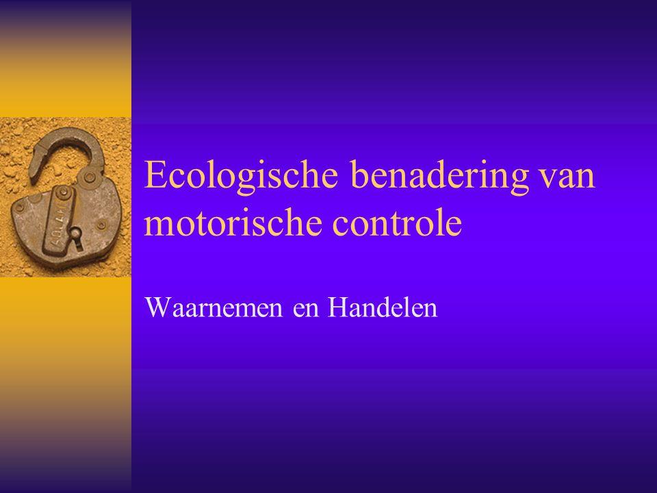Ecologische benadering van motorische controle
