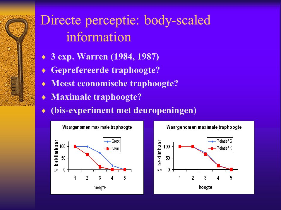 Directe perceptie: body-scaled information