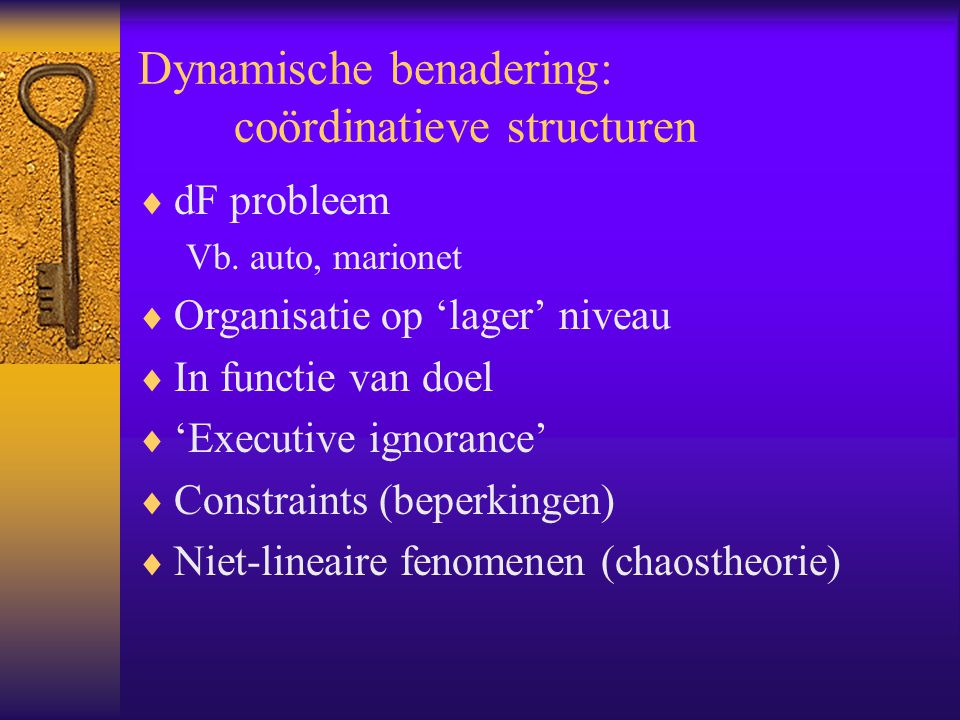 Dynamische benadering: coördinatieve structuren