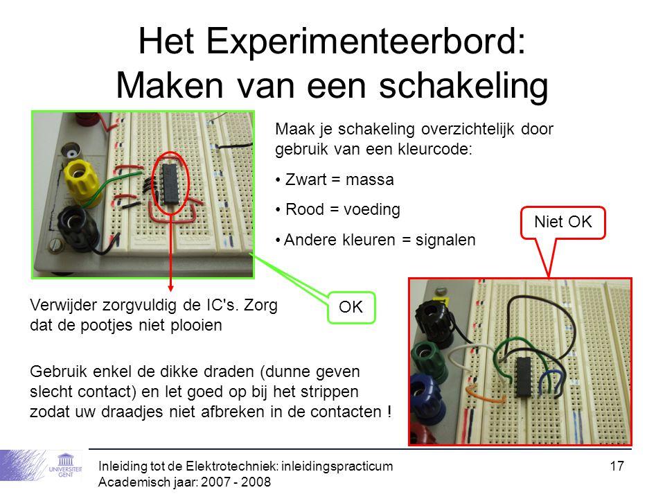Het Experimenteerbord: Maken van een schakeling