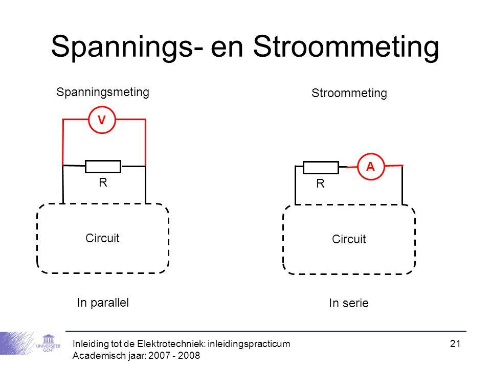 Spannings- en Stroommeting
