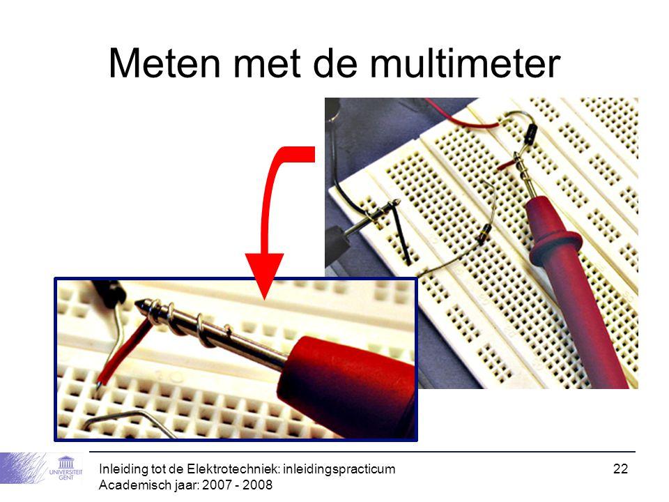 Meten met de multimeter