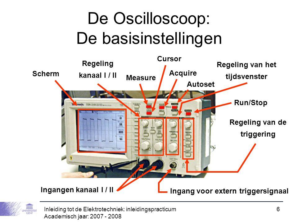 De Oscilloscoop: De basisinstellingen