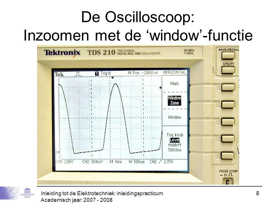 De Oscilloscoop: Inzoomen met de 'window'-functie
