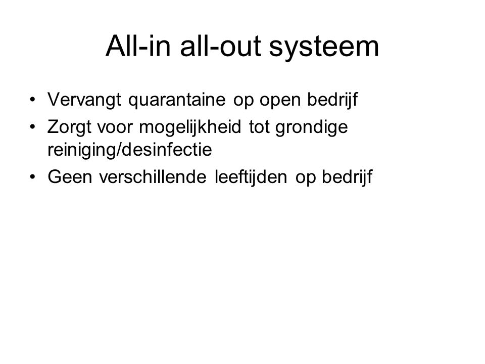 All-in all-out systeem