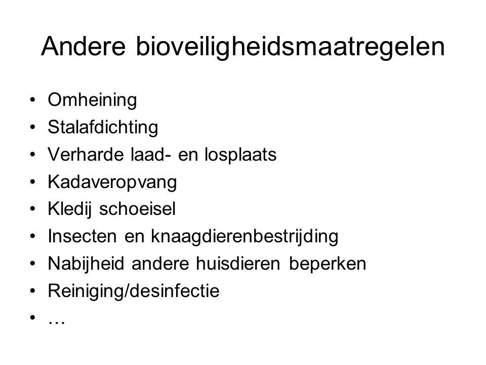 Andere bioveiligheidsmaatregelen