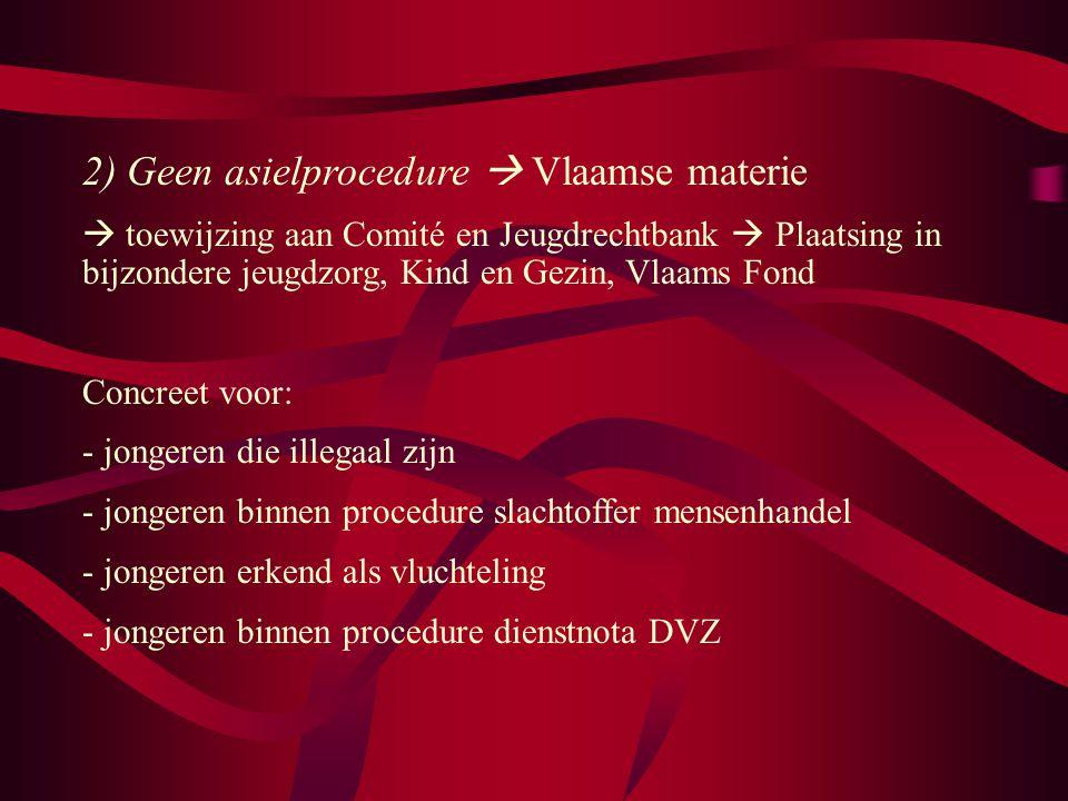 2) Geen asielprocedure  Vlaamse materie