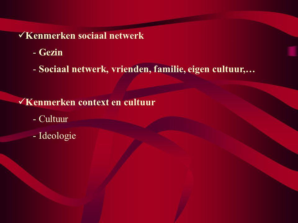 Kenmerken sociaal netwerk