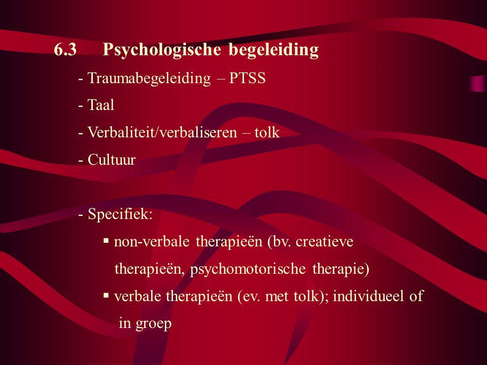 6.3 Psychologische begeleiding
