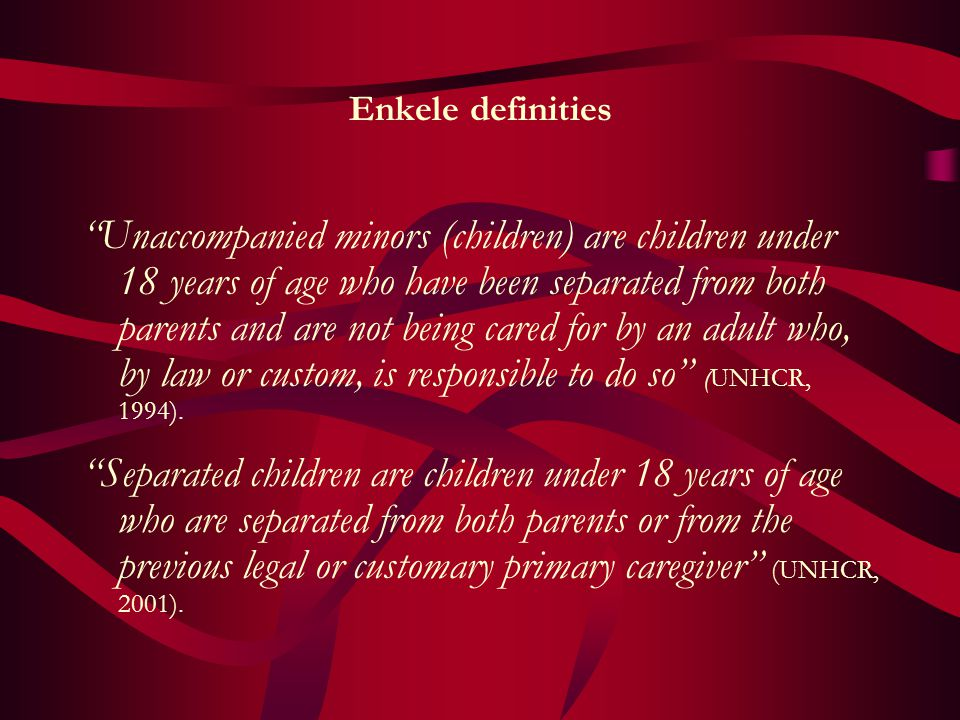 Enkele definities