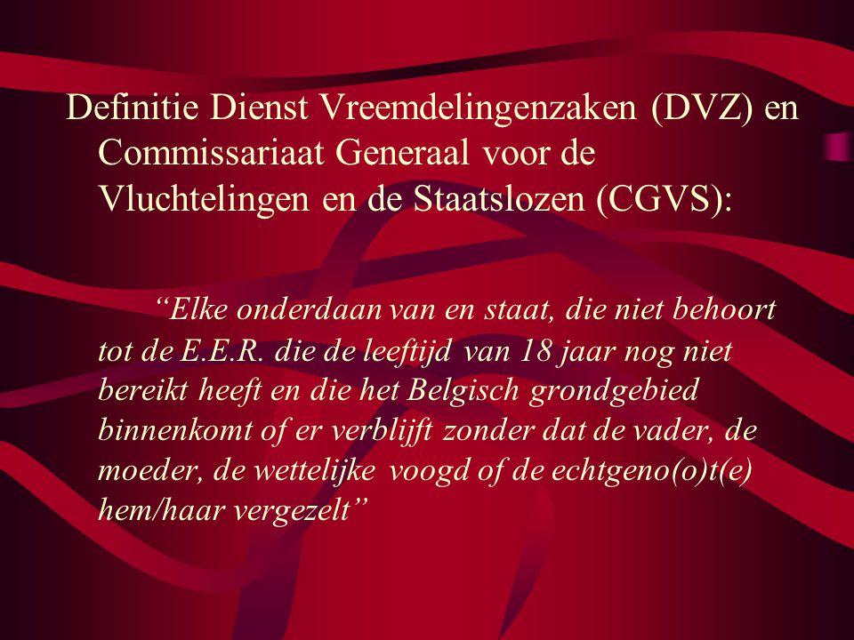 Definitie Dienst Vreemdelingenzaken (DVZ) en Commissariaat Generaal voor de Vluchtelingen en de Staatslozen (CGVS):