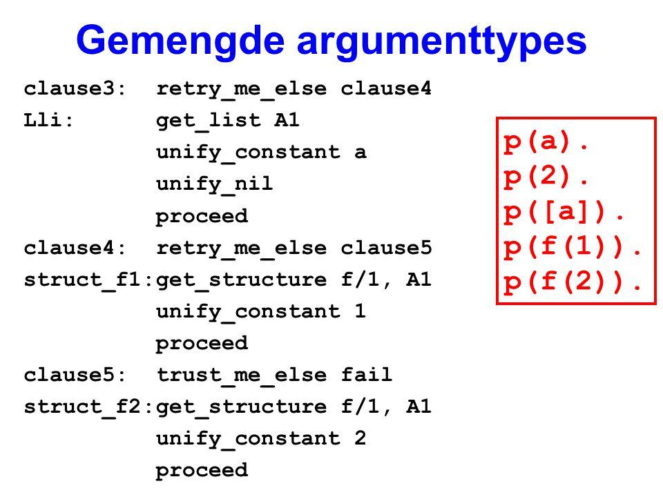 Gemengde argumenttypes