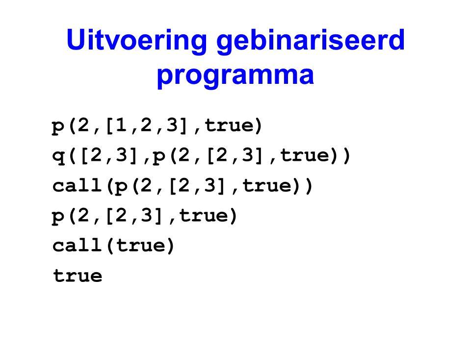 Uitvoering gebinariseerd programma