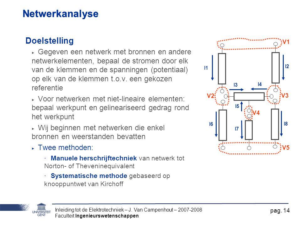 Netwerkanalyse Netwerkanalyse Doelstelling