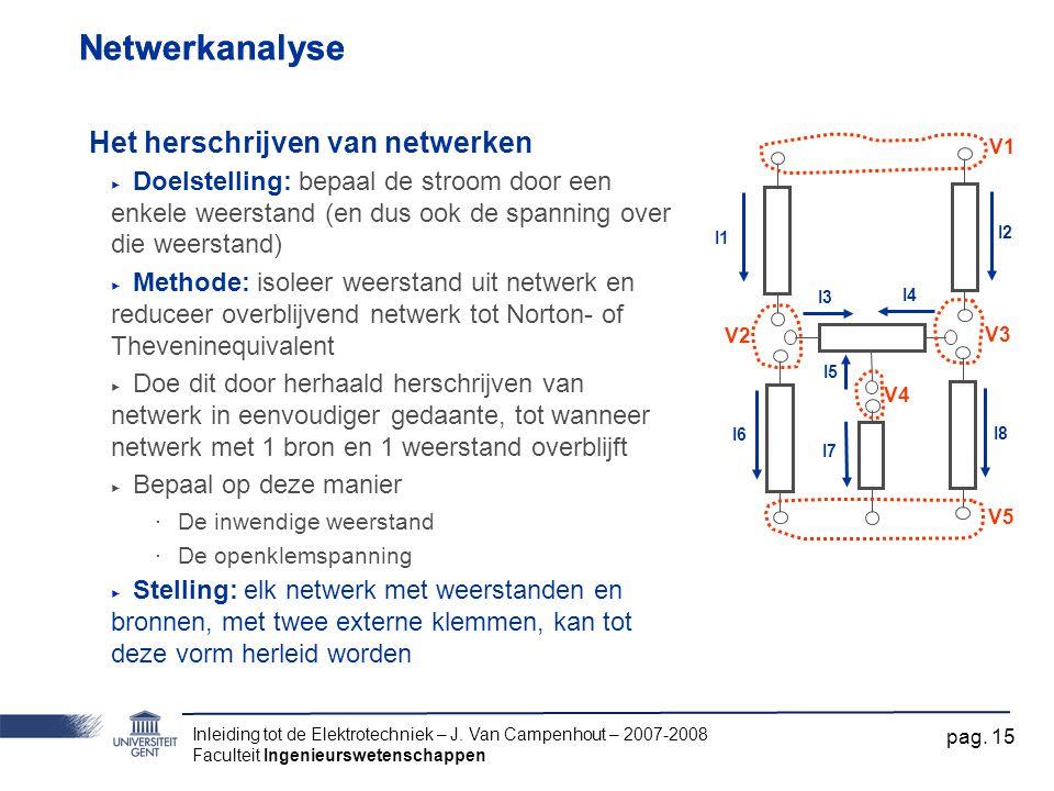 Netwerkanalyse Netwerkanalyse Het herschrijven van netwerken