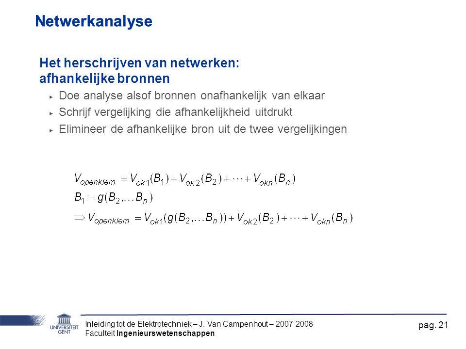 Netwerkanalyse Netwerkanalyse