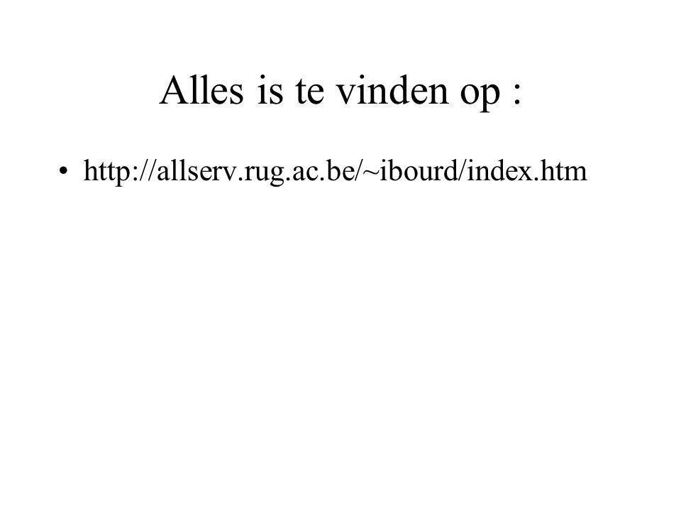 Alles is te vinden op : http://allserv.rug.ac.be/~ibourd/index.htm
