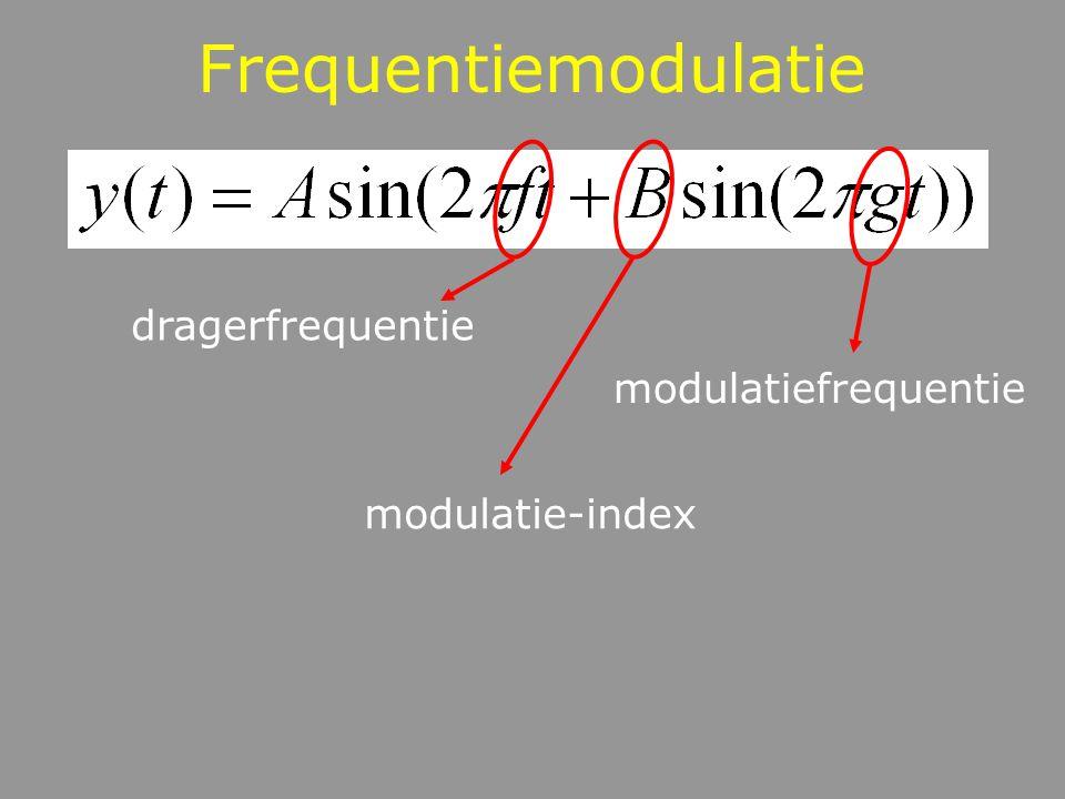 Frequentiemodulatie dragerfrequentie modulatiefrequentie