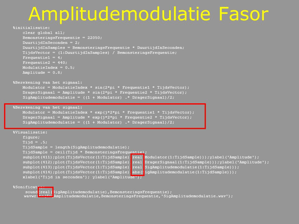 Amplitudemodulatie Fasor