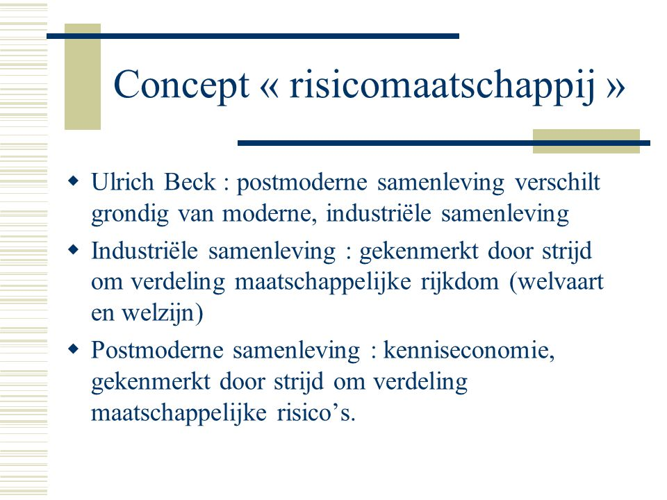 Concept « risicomaatschappij »