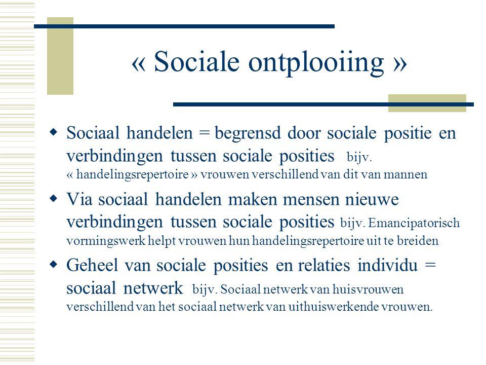 « Sociale ontplooiing »