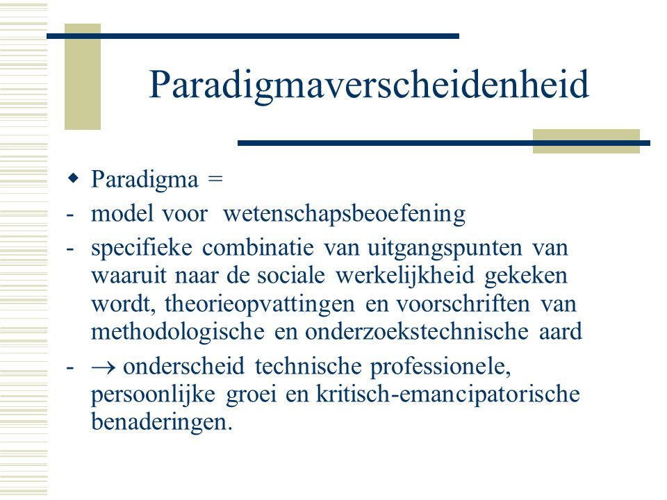 Paradigmaverscheidenheid