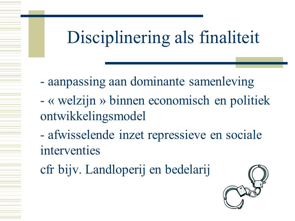 Disciplinering als finaliteit