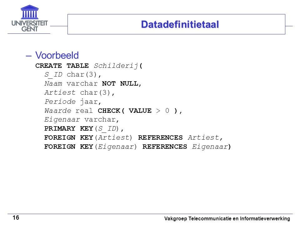 Datadefinitietaal