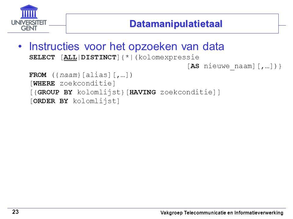 Datamanipulatietaal