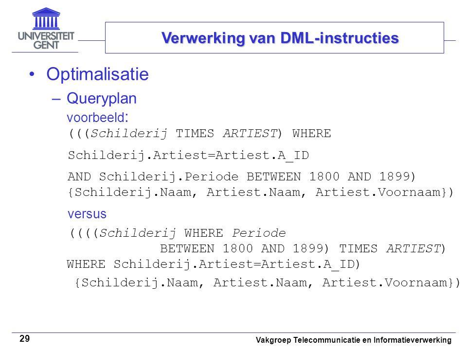 Verwerking van DML-instructies