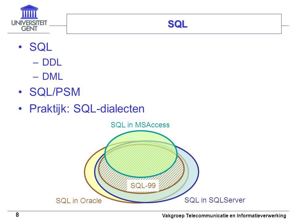 Praktijk: SQL-dialecten