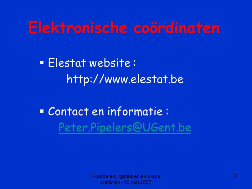 Elektronische coördinaten