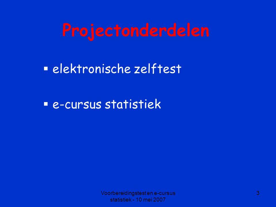 elektronische zelftest e-cursus statistiek