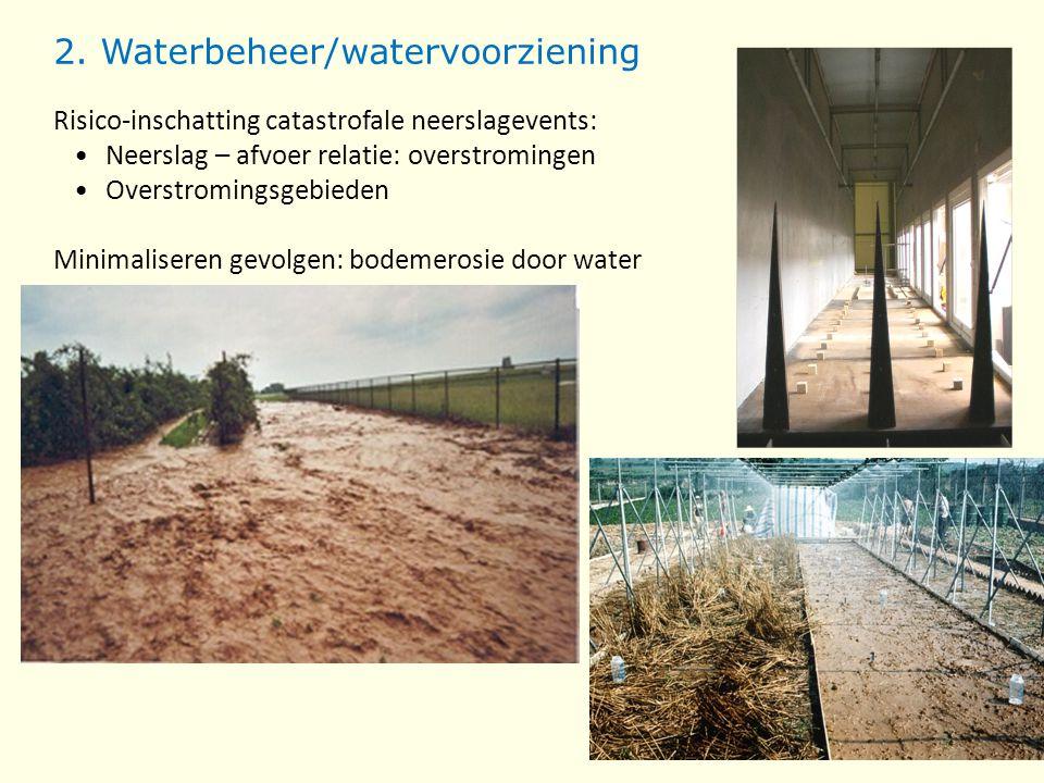2. Waterbeheer/watervoorziening