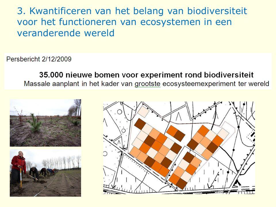 3. Kwantificeren van het belang van biodiversiteit voor het functioneren van ecosystemen in een veranderende wereld